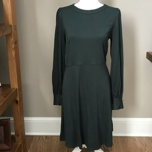 LOFT Hunter Green dress.